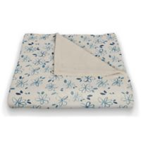 Designs Direct Creative Group Line Drawn Floral Fleece Throw Blanket