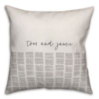 Designs Direct Stamps Square Throw Pillow in Dusty Grey