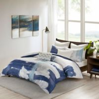 INK+IVY Heather King/California King Duvet Cover Set in Navy/Blue