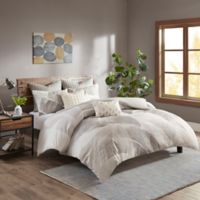 INK+IVY Charlotte Full/Queen Duvet Cover Set in Grey/White