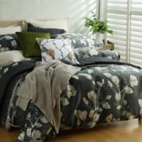 Magnolia Full/Queen Duvet Cover Set in Charcoal