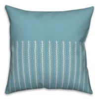 Designs Direct Organic Leaf Square Throw Pillow in Blue/White