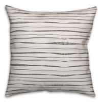 Designs Direct Wavy Lines Square Throw Pillow in Grey