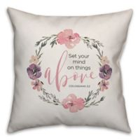 "Designs Direct ""Above"" Square Throw Pillow in Pink"