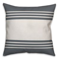 Designs Direct Simple Stripe Square Throw Pillow in Slate Blue