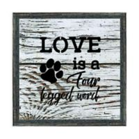 "Kay Berry Inc ""Love Four Leg Word"" Paper Wall Art in Neutral"
