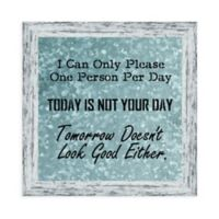 """Kay Berry Inc """"I Can Only Please"""" Paper Wall Art in Neutral"""