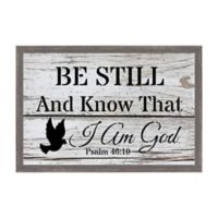 Be still and Know 18.75-Inch x 12.75-Inch Framed Wall Art
