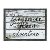 Greatest Adventure 16.75-Inch x 12.75-Inch Framed Wall Art