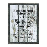 Bless the Food 12.75-Inch x 16.75-Inch Framed Wall Art