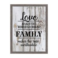 """""""Love Makes the World Go Round"""" 12.75-Inch x 16.75-Inch Framed Wall Art"""