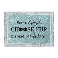 """Some Angels Choose Fur Instead of Wings"" 19.75-Inch x 13.75-Inch Framed Wall Art"