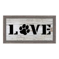 """Love"" 12.75-Inch x 6.75-Inch Framed Wall Art"