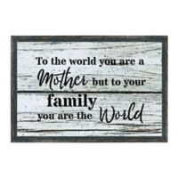 """""""To the World You Are"""" 18.75-Inch x 12.75-Inch Framed Wall Art"""
