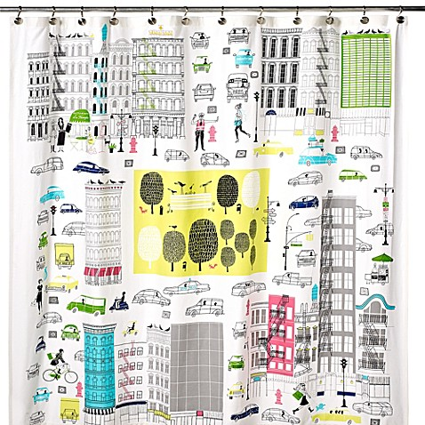 kate spade new york about town shower curtain - bed bath & beyond