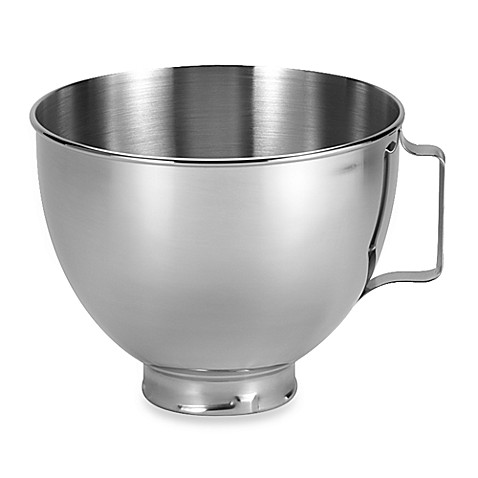 Kitchenaid 4 5 Quart Polished Stainless Steel Bowl With Handle Bed Bath Beyond
