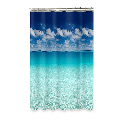 Escape Ocean View 70 Inch X 72 Inch Shower Curtain Bed