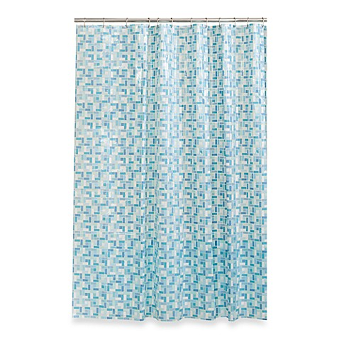 Stained Glass 70 Inch X 72 Inch Shower Curtain In Blue Green Bed Bath Beyond