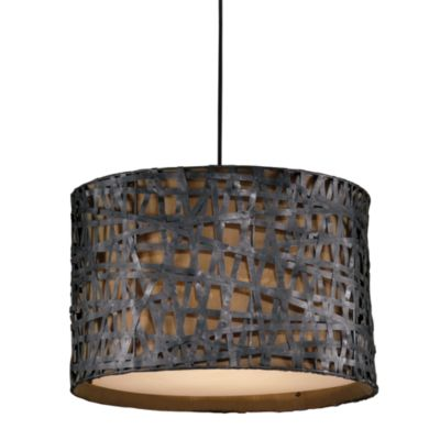 Uttermost alita 3 light metal hanging shade lamp in aged black bronze