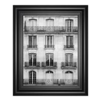 Laura Marshall Architecture Buildings 22-Inch x 26-Inch Framed Print Wall Art in Black/White