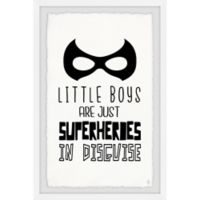 Marmont Hill Little Boys Are Superheroes II 24-Inch x 36-Inch Framed Wall Art