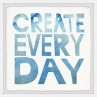 Marmont Hill Create Everyday Square Paper Print Framed Wall Art