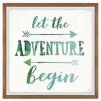 Marmont Hill Adventure Begin 12-Inch Squared Framed Wall Art