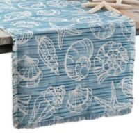 Arlee Home Fashions® Seaside Shells 54-Inch Table Runner in Blue