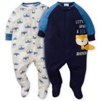 Gerber® Size 3-6M 2-Pack Fox Sleep 'n Play in Blue