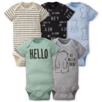 Gerber® Onesies® Size 3-6M 5-Pack Bear Bodysuits in Grey/Blue