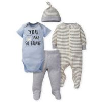 Gerber® Newborn 4-Piece Bear Set in Blue/Grey