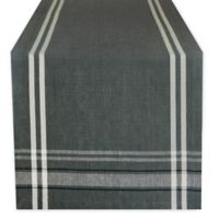 Design Imports French Chambray 108-Inch Table Runner in Grey