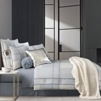 Oscar/Oliver Leighton Reversible King Comforter Set in Blue