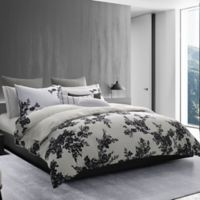 Vera Wang™ Ink Botanical King Duvet Cover in Onyx