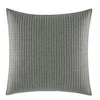 Vera Wang™ Ink Botanical Channel Running Stitch European Pillow Sham