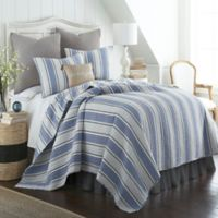 Levtex Home Cocomo Stripe Full/Queen Quilt Set in Blue