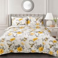 Lush Décor Penrose Reversible King Quilt Set in Yellow