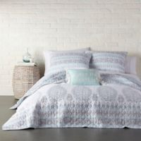 Levtex Home Lena Reversible King Quilt Set in Spa Blue