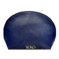 XOXO Saffiano Cosmetic Bag in Blue