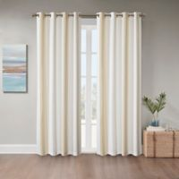 Coastal Life Sandbar 108-Inch Grommet Indoor/Outdoor Window Curtain Panel in Yellow
