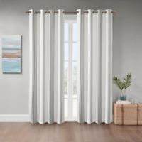Coastal Life Sandbar 108-Inch Grommet Indoor/Outdoor Window Curtain Panel in Grey