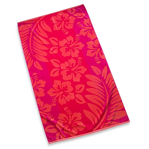Beach Towel in Pink Hibiscus