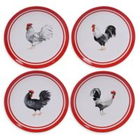 Certified International Homestead Rooster Dinner Plates (Set of 4)
