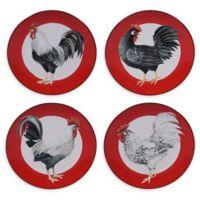 Certified International Homestead Rooster Dessert Plates (Set of 4)