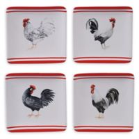 Certified International Homestead Rooster Canape Plates (Set of 4)