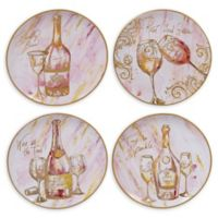 Certified International Wine All the Time Dinner Plates (Set of 4)