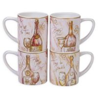 Certified International Wine All the Time Mugs (Set of 4)