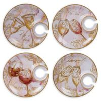 Certified International Wine All the Time Round Appetizer Plates (Set of 4)