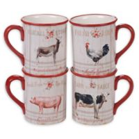 Certified International Farmhouse Mugs (Set of 4)