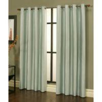 Sherry Kline Faux Silk Grommet Top 84-Inch Window Curtain Panels in Green (Set of 2)